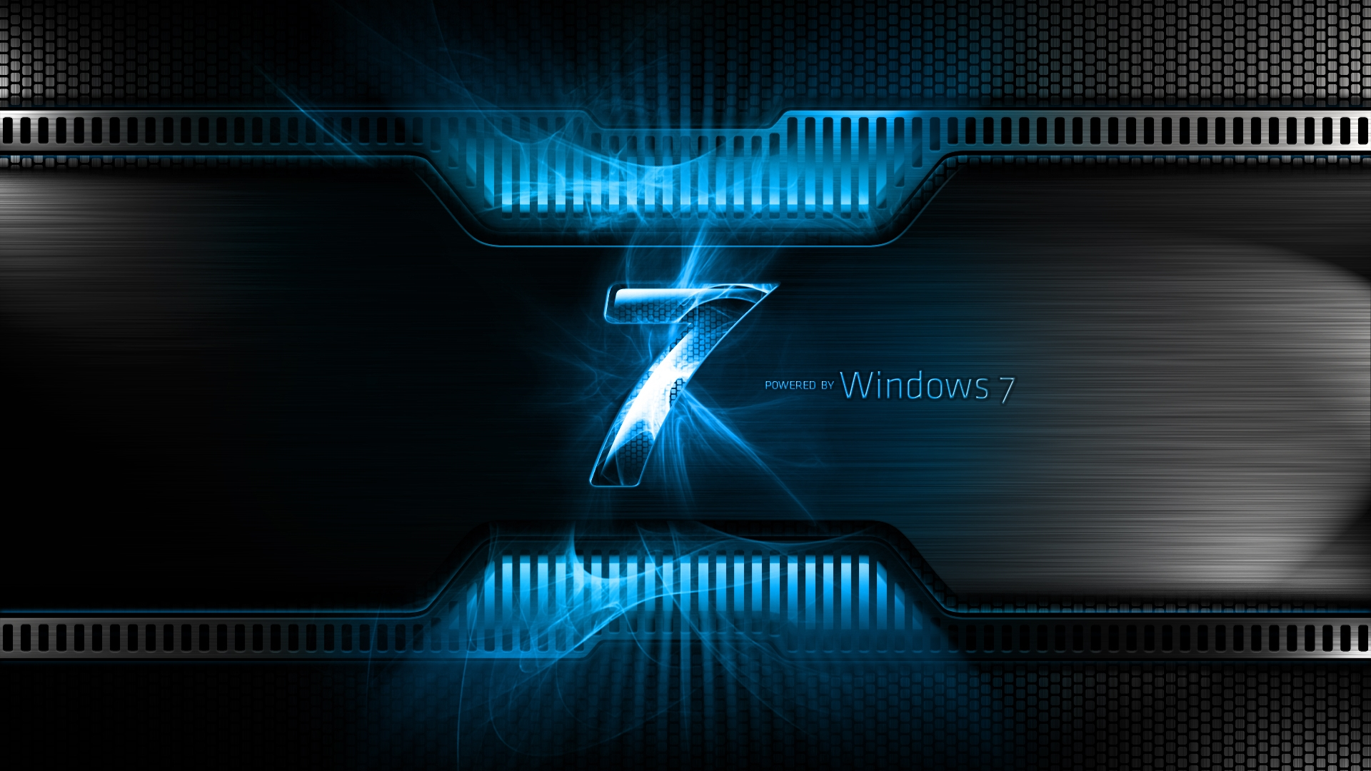 Download Wallpaper 1920x1080 windows 7, ultimate, blue, drops Full ...