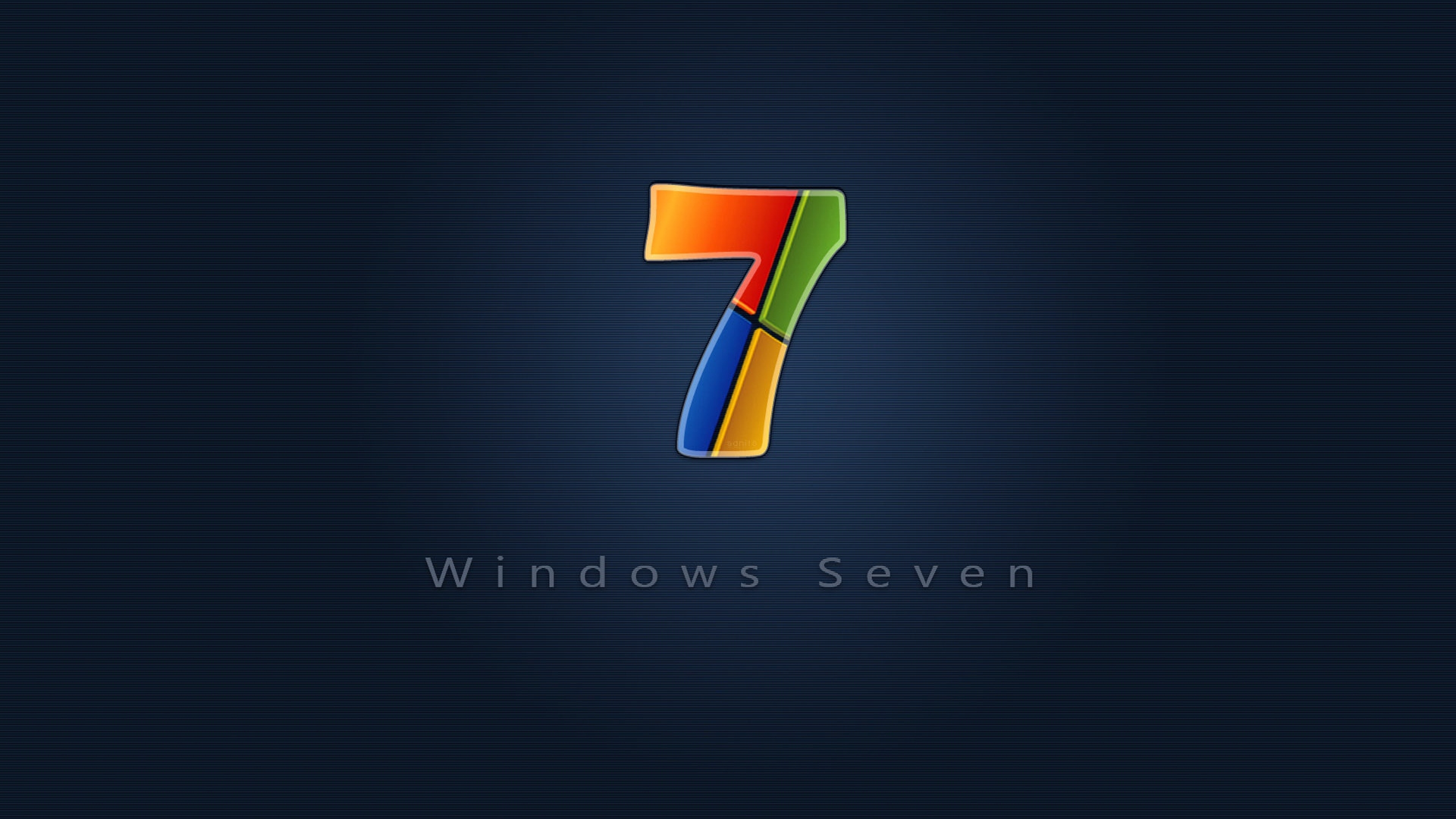 Windows 7 Red Blue