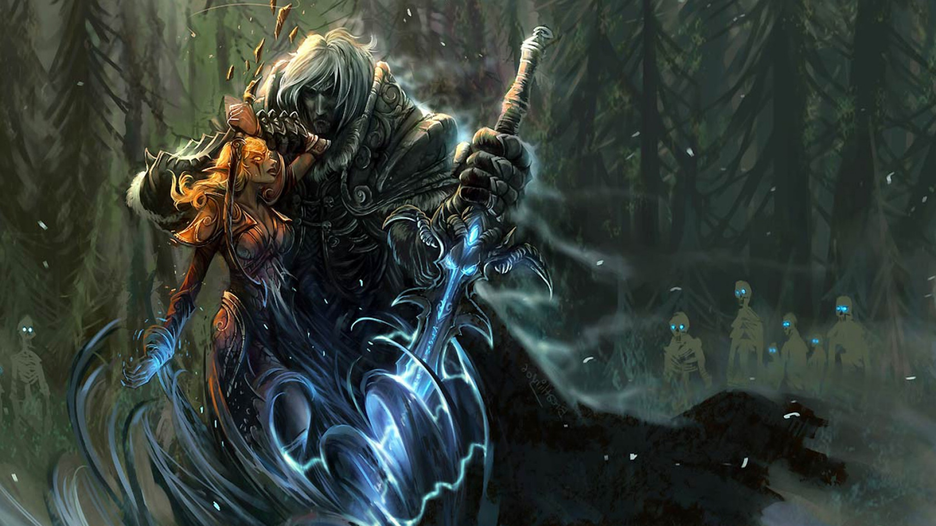 Download Wallpaper 1920x1080 World Of Warcraft Arthas Sword