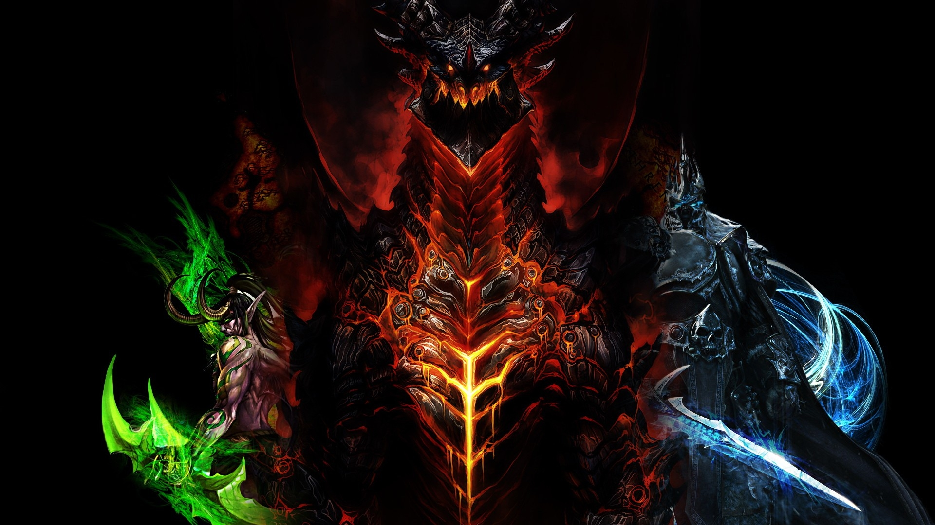 download wallpaper 1920x1080 world of warcraft, dragon, characters