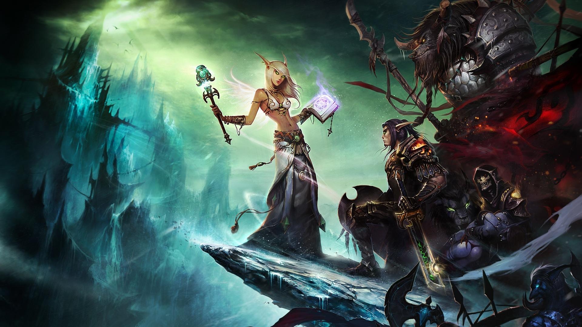 World Of Warcraft Female Sky