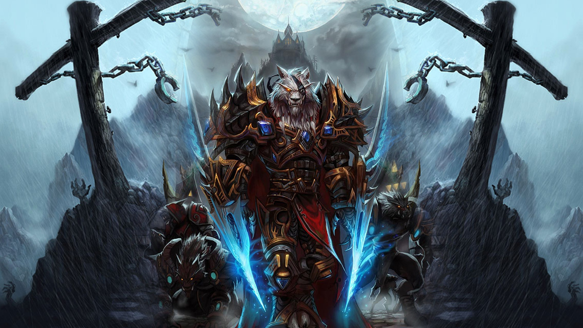 Download Wallpaper 1920x1080 world of warcraft worgen character