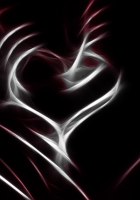 abstract, heart, line