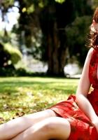 alexis bledel, brunette, dress