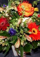 alstroemeria, gerberas, roses