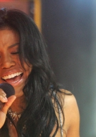 amerie, girl, singing