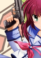 angel beats, girl, gun
