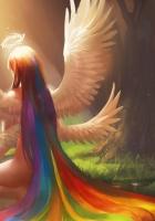 angel, wings, nimbus