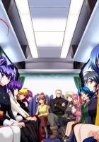 anime, crowd, bus
