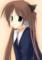 arikawa satoru, girl, blush