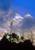 asia, mountains, outlines