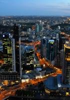 australia, top view, skyscrapers
