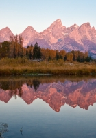 autumn, mountains, reflection
