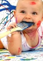 baby, amusing, paint