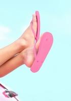 baby, feet, flip flops