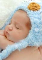 baby, sleep, shower cap