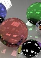 balls, glass, colored