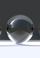 balls, glass, gray