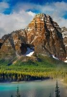 beautiful scenery, mountains, lake
