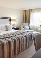 bed, rug, tv