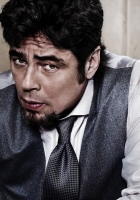 benicio del toro, brown hair, beard