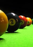 billiards, table, spheres