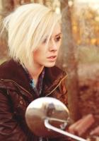 blonde, mirror, park