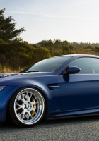 blue, side view, e92