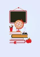 board, globe, books