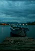 boat, twilight, pier