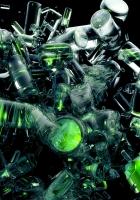 bottles, glass, debris