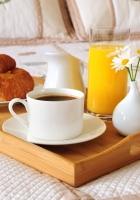 breakfast, bed, coffee