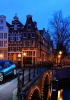 bridge, city, city lights