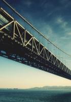 bridge, river, water