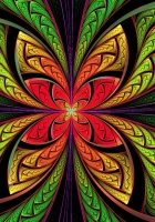 bright, flower shape, multicolored