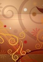 brown, flowers, patterns