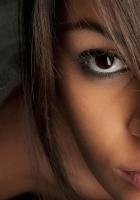 brunette, brown-eyed, face