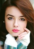 brunette, brown-eyed, makeup