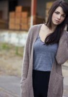 brunette, cute, jacket