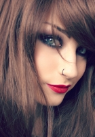 brunette, face, makeup