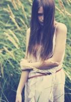 brunette, girl, long-haired