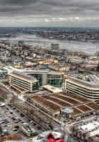 building, top view, city