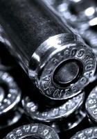 bullets, metal, black white