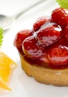 cake, raspberry, jam