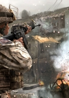 call of duty 4 modern warfare, soldiers, machine building