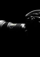 camera, black, light
