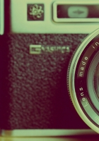 camera, lens, reflection
