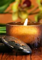 candle, stones, moisture