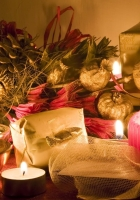 candles, table, gifts