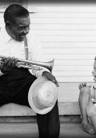 celestine laughing, instrument, cap